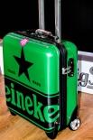 Heineken Bier, Hartkoffer, Trolli, Hartcase, Koffer, 46 x 38 x 18cm