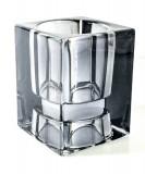 Marlboro Glas Windlicht, Teelicht, graue Ausführung, sehr massiv..sehr edel..