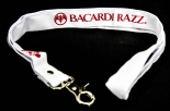 10 x Bacardi Rum, Razz, Schlüsselband, Fledermaus, weiß, 50cm
