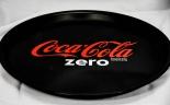 Coca Cola Zero, Serviertablett, Rundtablett, gummierter Boden