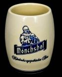 Kulmbacher, Mönchshof, Tonkrug, Bierkrug, Bierseidel, 0,5 l