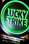 Lucky Strike LED Leuchtreklame, Leuchtwerbung, rund, Wechselfarbend