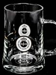 Warsteiner Bier Brauerei Bier Krug, Henkel Glas 0,3 l, weißes Emblem