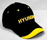 HYUNDAI HEAVY INDUSTRIES BASEBALL-CAP, SCHWARZ/GELB