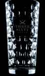 Three Sixty Vodka, Diamant Longdrinkglas, geriffelte Edition, Ritzenhoff