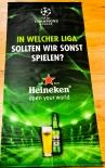 Heineken, Bier, Stoff Banner Champions League, 128 x 60 cm