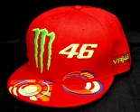 Offizielle Monster Energy Valentino Rossi Yamaha 46 Baseball Cap, rot