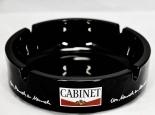 Cabinet Tabak,Glas-Aschenbecher, schwarz, große Ausführung, Ø 14,5 cm
