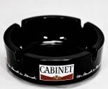 Glas-Aschenbecher, Cabinet Tabak, schwarz, kleine Ausführung, Ø 10,6 cm