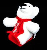 Coca Cola Polarbär, Eisbär Schlittenfahrer Höhe ca. 12 cm