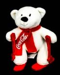 Coca Cola Polarbär, Eisbär Skifahrer Höhe ca. 12 cm