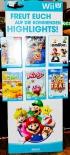 Nintendo Wii U, 3D-Pappaufsteller, Spielehighlights
