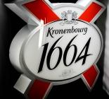 Kronenbourg 1664 Bier, Neon-Leuchtreklame, Vollmetall