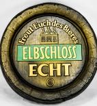 Elbschloss Bier Brauerei, Fassboden aus Kunsstoff, Werbeschild