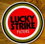 Lucky Strike Rund Schild Kunststoff, Werbeschild hinten klebbar