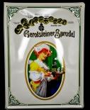 Gerolsteiner Blechschild / Werbeschild, Preismedaillen