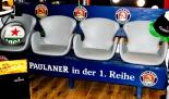 Paulaner Bier, Sitzbank Stadionfeeling, 4 Schalensitze