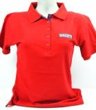 Ramazzotti Likör, Polo Shirt Girly, 5 Knöpfe, rot, Gr. L mit Logo