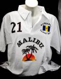 Malibu Rum, Polo Shirt Weiss Men Gr.L, 100% Cotton