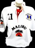 Malibu Rum, Polo Shirt Weiss Men Gr.M, alles sehr edel gestickt, 100% Cotton