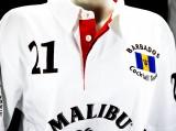 Malibu Rum, Polo Shirt Weiss Men Gr.L, alles sehr edel gestickt, 100% Cotton