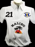 Malibu Rum, Polo Shirt Weiss Women Gr.S/M, gestickte Logos, 100% Cotton