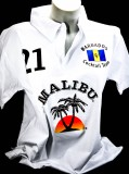Malibu Rum, Polo Shirt Weiss Women Gr.S/M, 100% Cotton