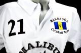 Malibu Rum, Polo Shirt Weiss Women Gr.S/M, 100% Cotton