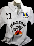 Malibu Rum, Polo Shirt Weiss Women Gr.M/L, 100% Cotton