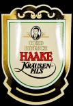 Haake Kräusen Bier Cord Hinrich Emaile Schild, 70er Jahre, NEU