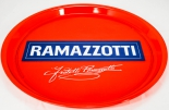 Ramazzotti Likör, Serviertablett, Rundtablett, rot, 37cm