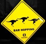 Fosters Bier Brauerei, Blechschild Werbeschild, Bar Hopping