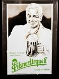 Pilsener Urquell Bier Brauerei, Blechschild Werbeschild, Nenner.....Kenner