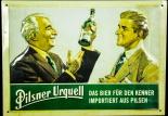 Pilsener Urquell Bier Brauerei, Blechschild Werbeschild, Das Bier f. Kenner