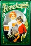 Pilsener Urquell Bier Brauerei, Blechschild Werbeschild, Kellnerin