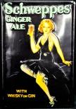 Schweppes, Werbeschild, Blechschild Ginger Ale