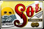 Sol Bier Espana, Werbeblechschild, Blechschild, Cerveza