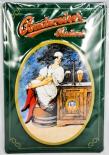 Budweiser Bier, Werbeblechschild, Blechschild, grün