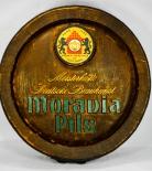 Moravia Bier Brauerei, Fassboden Schild aus Kunsstoff