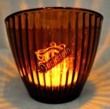 Duckstein Bier Brauerei Windlicht Sternstreuung braun mit Kerze