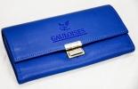 Gauloises Tabak Kellnerportemonnaie, blau, echt Leder, 18 x 10cm