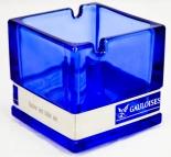 Gauloises Tabak Wind-Glas-Aschenbecher, Glutkillerblau
