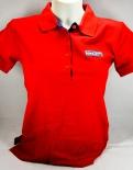Ramazzotti Likör Polo Shirt, Girly, 5 Knöpfe, rot, Gr.M mit Logo
