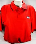 Ramazzotti Likör Polo Shirt, Men, zwei rote Knöpfe, rot, Gr.L, blauer Kragen