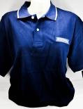 Becherovka Vodka Polo Shirt, Men, Gr.M, blau mit weißem Absatz
