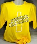 Schweppes T-Shirt Hier kommt der Sommer Rund-Ausschnitt, gelb Gr. L