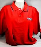Ramazzotti Likör Polo Shirt Mann, rot, Gr.L, blauer Kragen, Knöpfe weiß, OVP NEU