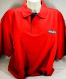 Ramazzotti Likör Polo Shirt Mann, rot, Gr.L, roter Kragen, Knöpfe rot