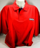 Ramazzotti Likör Polo Shirt Mann, rot, Gr.M, roter Kragen, Knöpfe rot