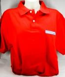 Ramazzotti Likör Polo Shirt Mann, rot, Gr.M, roter Kragen, Knöpfe weiß